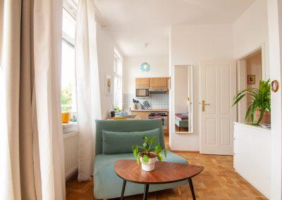 monteurzimmer Sitzgruppe und Küche
