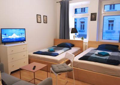 Monteurzimmer mit Einzelbetten, TV, Wlan und TV