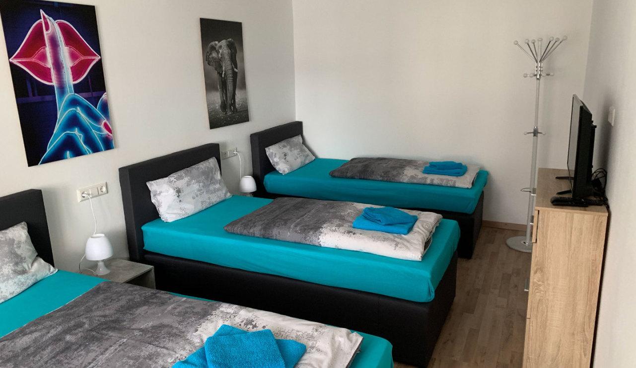 Monteurzimmer Leipig Plagwitz mit 3 Einzelbetten